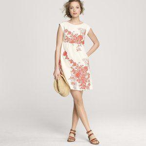 JCREW White Embroidered Mirabel Dress